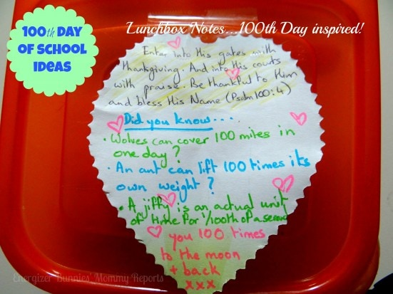 100th Day of School Ideas- Energizer Bunnies' Mommy Reports