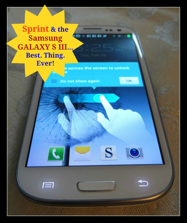 Samsung S III Sprint Phone Review @ Energizer Bunnies' Mommy Reports (2)