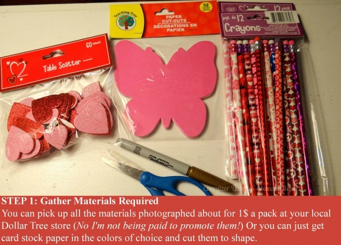 Step 1- Easy to make, D.I.Y., Valentine's Day Butterfly Cards (with Tutorial)- Energizer Bunnies' Mommy Reports (2)