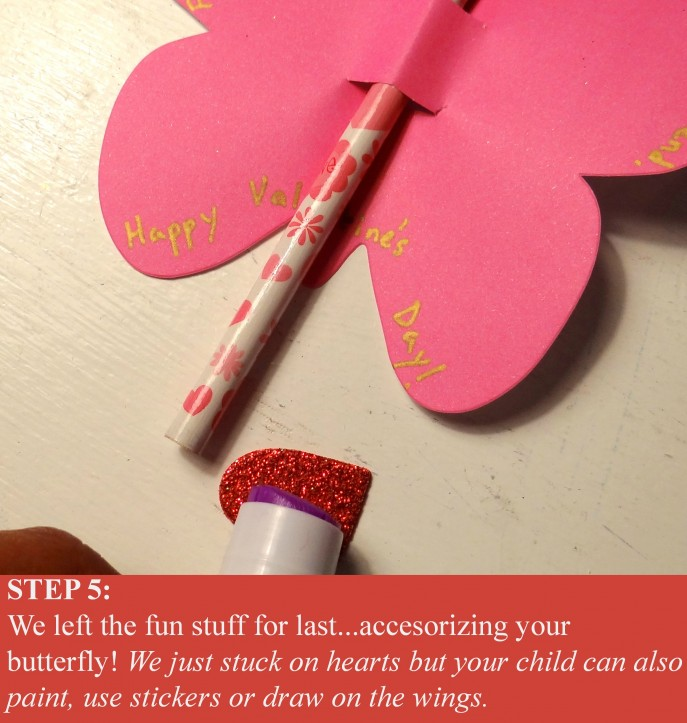 Step 5- Easy to make, D.I.Y., Valentine's Day Butterfly Cards (with Tutorial)- Energizer Bunnies' Mommy Reports (7)